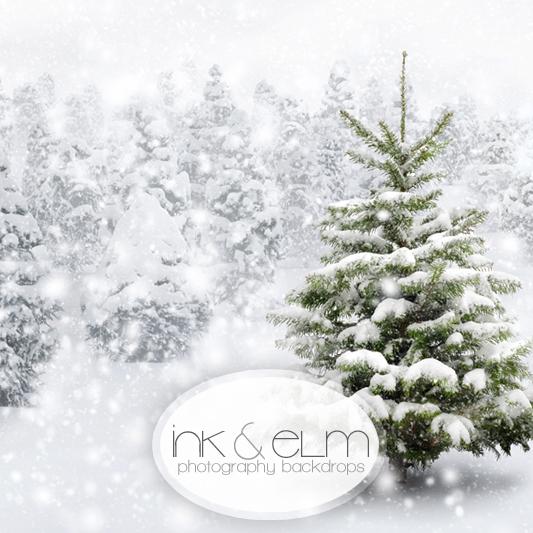 christmas photography backdrop a perfect tree