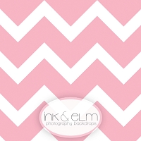Photography Backdrop <br> Large Pink Chevron Stripes