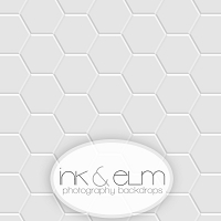 Photography Backdrop <br> Hexagon White Tile