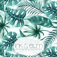 Photography Backdrop <br> Palm Leaves (large)