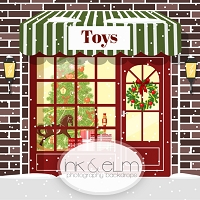 Photography Backdrop <br> Holiday Toy Shop
