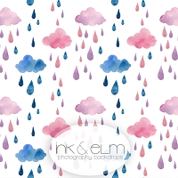 Photography Backdrop <br> Watercolor Rain Clouds