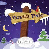 Photography Backdrop <br> North Pole