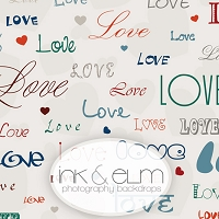 Photography Backdrop <br> Smothered With Love (white background)