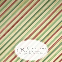 Photography Backdrop <br> Striped for the Holidays