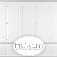 Photography Backdrop <br> Classic Wainscot
