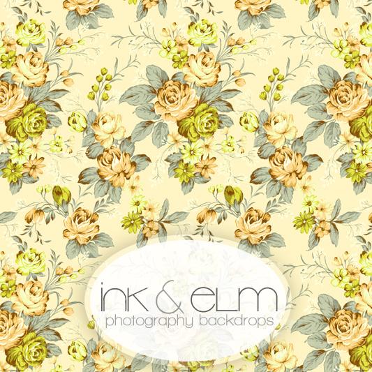 floral and roses shabby chic vinyl photography backdrop shabby chic rh inkandelm com shabby chic yellow painted furniture shabby chic yellow quilt
