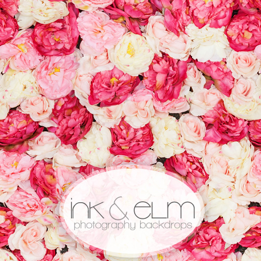 Floral And Roses Shabby Chic Vinyl Photography Backdrop