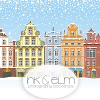 Photography Backdrop <br> Paint the Town Christmas