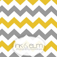 Photography Backdrop <br> Yellow and Gray Chevrons
