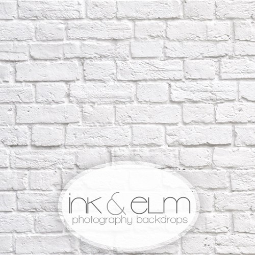 Photography White Brick Backdrop <br>