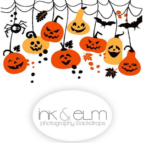 Photography Backdrop <br> Pumpkin Gang