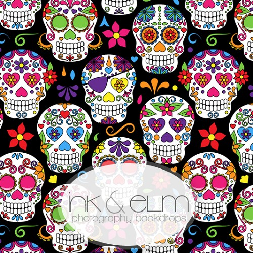 Photography Backdrop <br> Sugar Skulls