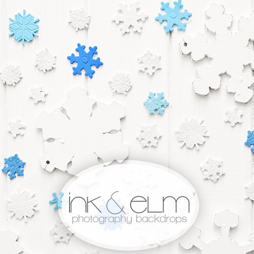 Photography Backdrop <br> Wall of Snowflakes