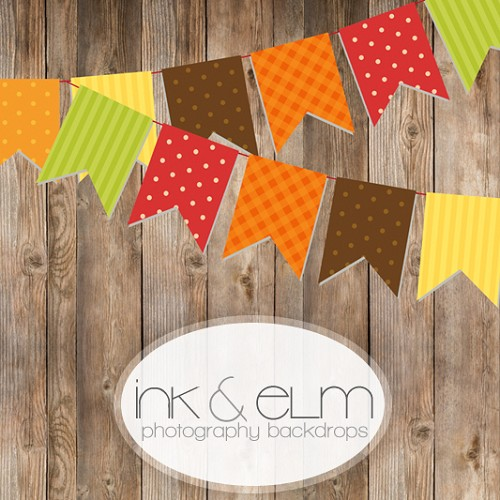 Photography Backdrop <br> Fall Bunting