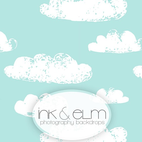 Photography Backdrop <br> Stamped Clouds