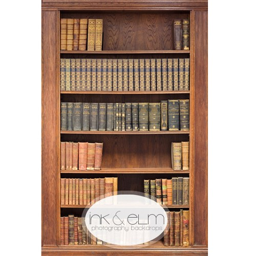Photography Backdrop <br> Antique Bookshelf