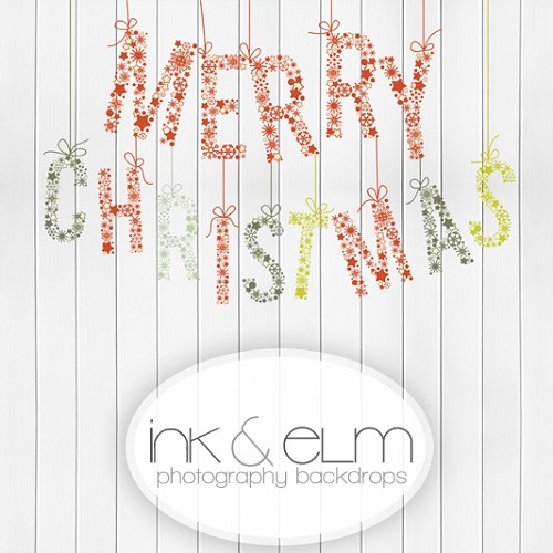 Photography Backdrop <br> Merry Christmas Garland