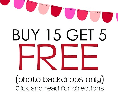 "Buy 15 Get 5 Free (Enter the name of the 5 free backdrops you would like to receive in the ""Comments"" section during checkout)"