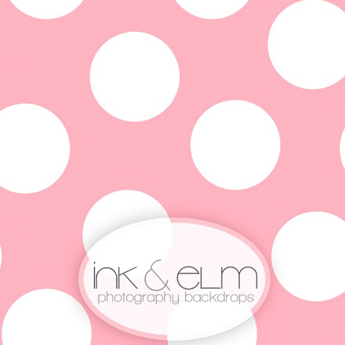 Photography Backdrop <br> Play With Me Polka Dots (girly pink)