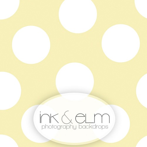 Photography Backdrop <br> Play With Me Polka Dots (pale yellow)