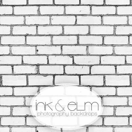 Photography White Brick Backdrop <br> Peeping Tom