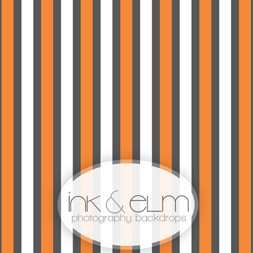 Photography Backdrop <br> Halloween Stripes
