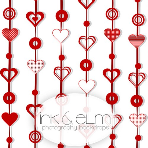 Photography Backdrop <br> Heart Dangle