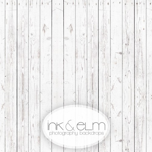 Photography Wood Backdrop <br> White Oxen