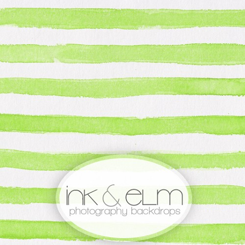 Photography Backdrop <br> Striped (lime)